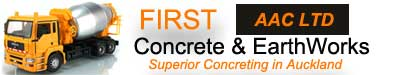 logo for First Concrete and AAC Ltd