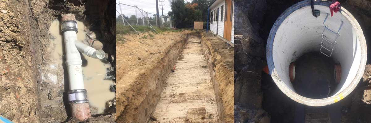 AAC Ltd can provide Excavations & Drains